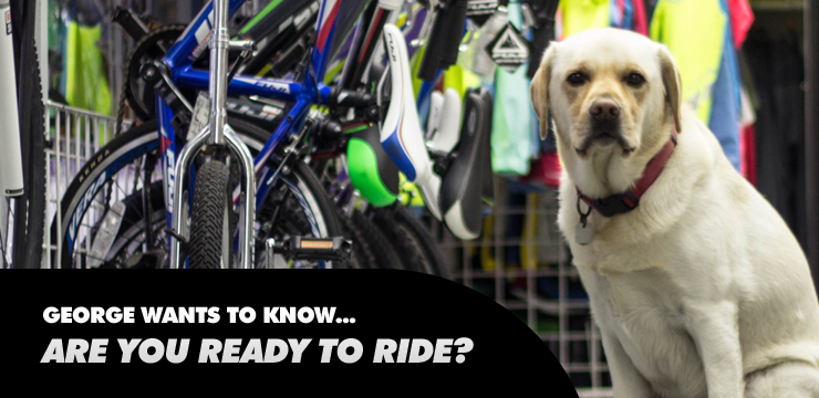 George wants to know...Are you ready to ride?